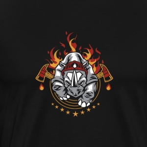 FIRE | ATTACK - Premium T-skjorte for menn