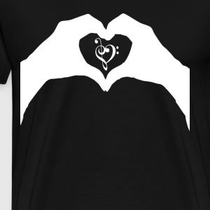 Love Sheet music Music Heart - Men's Premium T-Shirt