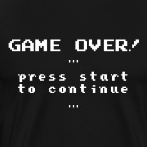 Retro 'Game over!' - Men's Premium T-Shirt