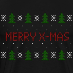 Ugly jul Sweater Merry X-Mas strik sweater - Herre premium T-shirt