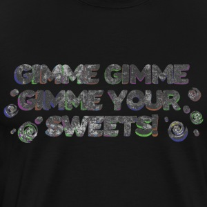 Retro font 70s give me sweets washed - Men's Premium T-Shirt