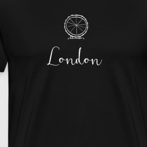 london minimal eye uk brexit sketch fashion englan - Men's Premium T-Shirt