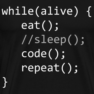Code While Alive - Männer Premium T-Shirt
