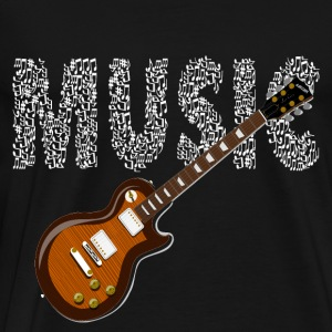 Musician Guitarist Guitar Sheet Music Music Electric Guitar - Men's Premium T-Shirt
