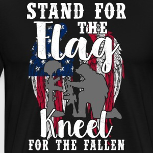 Stand For The Flag - Kniel For The Fallen - Mannen Premium T-shirt