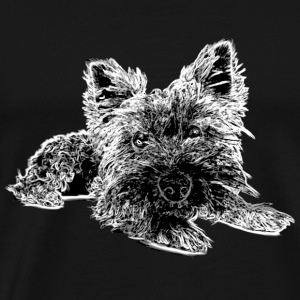 Dog Adoption> Cute Yorkshire Terrier - Men's Premium T-Shirt