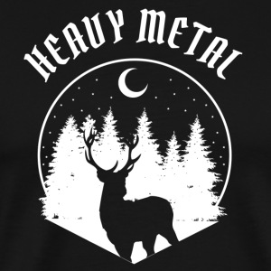 Heavy metal motif with deer - Men's Premium T-Shirt