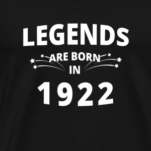 Legends skjorte - Legends er født i 1922 - Premium T-skjorte for menn