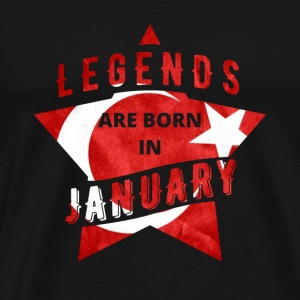 TShirt - Türkey - legend - January - Men's Premium T-Shirt
