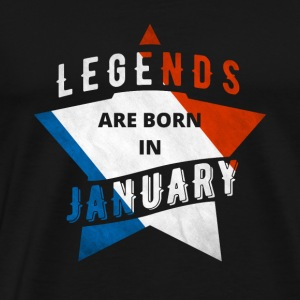 TShirt - France - legend - January - Men's Premium T-Shirt
