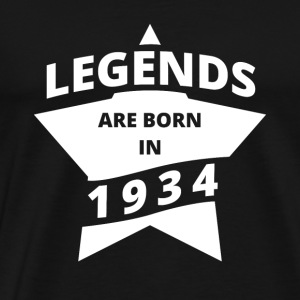 Legends skjorte - Legends er født i 1934 - Premium T-skjorte for menn