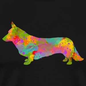 Welsh Corgi Cardigan Multicolored - Men's Premium T-Shirt