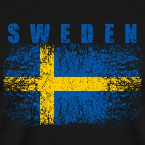 Sweden Flag 008 AllroundDesigns - Men's Premium T-Shirt