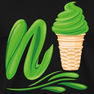 Ice Cream Emoji Ne Ice avec N. smoothies verts - T-shirt Premium Homme
