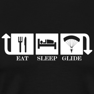 eat sleep glide - Männer Premium T-Shirt
