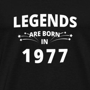 Legends are born in 1977! 03 - Männer Premium T-Shirt