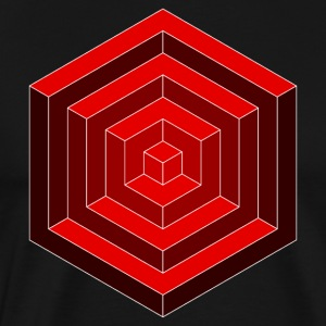 Hexagon Cube - Men's Premium T-Shirt