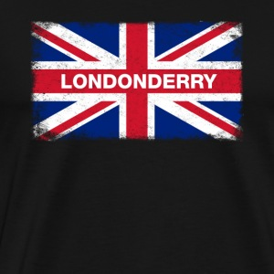 Londonderry Shirt Vintage United Kingdom Flag - Premium-T-shirt herr