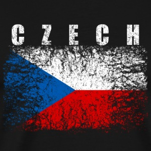Czech Republic Flag 008 AllroundDesigns - Men's Premium T-Shirt