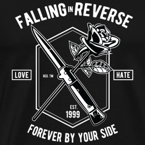 Falling In Reverse: Love and hate forever. - Men's Premium T-Shirt