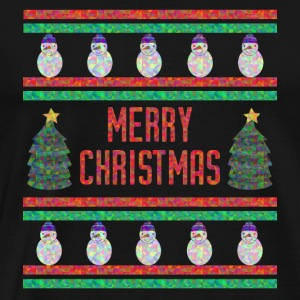 Merry Chrismas Funny Shirt (Ugly Sweater) - Men's Premium T-Shirt