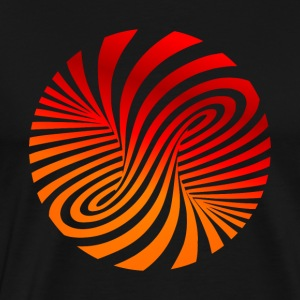 psychedelic optical type swirl orange 70s style fu - Men's Premium T-Shirt
