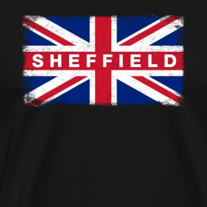 Sheffield Shirt Vintage United Kingdom Flag - Premium-T-shirt herr