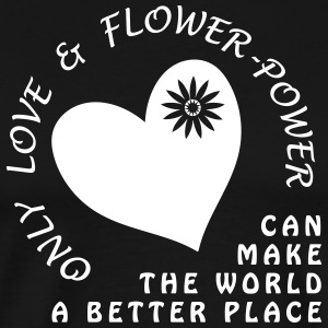 Love & Flower Power for World Peace - Men's Premium T-Shirt