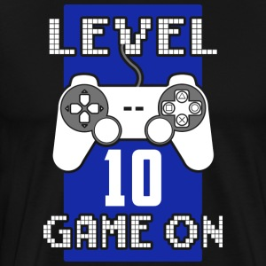Level 10 - Game On - Premium-T-shirt herr
