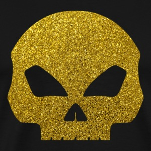 Golden Skull - Golden Head Skull Glitter Gold - Men's Premium T-Shirt