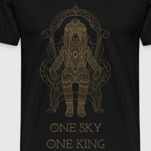 One World, One King. En Sky en King. - Premium T-skjorte for menn