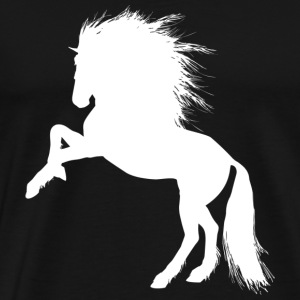 silhouette Cheval Blanc - Illustration Cheval - T-shirt Premium Homme