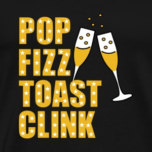 Silvester Pop Fizz toast Clink - Premium T-skjorte for menn