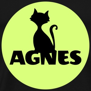 Agnes first name name personal gift cat - Men's Premium T-Shirt