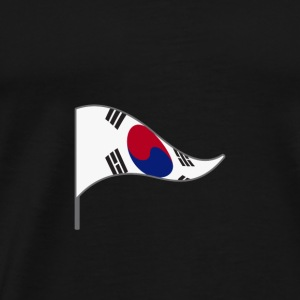 South Korea Seoul Flag Flag Landesfarben Kor Won - Men's Premium T-Shirt