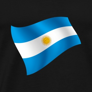 Argentina Buenes Aires flag flag colors - Men's Premium T-Shirt