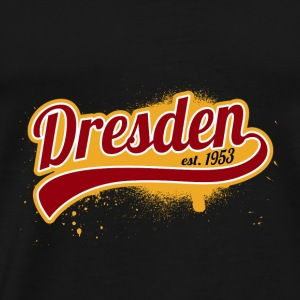 Football League Tyskland Dresden 1953 East Ossi - Herre premium T-shirt