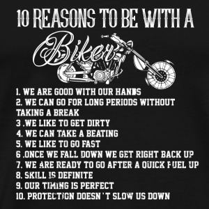 MOTORCYCLE 10 REASONS FOR BIKER ROCKER CHOPPER BIKES - Men's Premium T-Shirt