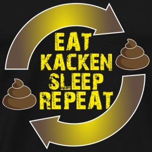 Geschenk Shirt kacken eat sleep repeat - Männer Premium T-Shirt