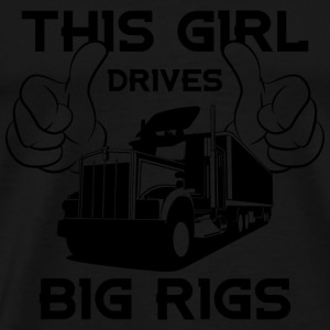 This girl is driving big trucks gift - Men's Premium T-Shirt