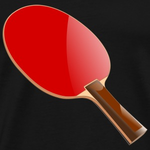 Bordtennisracket - Premium T-skjorte for menn