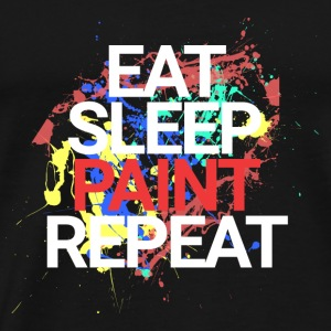 Eat Sleep Paint Repeat - Männer Premium T-Shirt