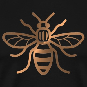 Manchester Bee - Brushed Metal Effect Print