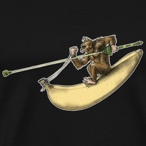 Shirt Design Monkey Banana Monkey Rider Knights - Herre premium T-shirt