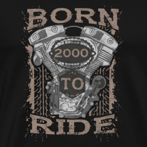 Born to Ride motorcycle biker 2000 - Männer Premium T-Shirt