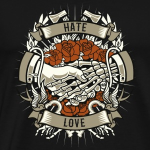 Hate and Love - Männer Premium T-Shirt