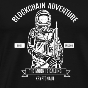 Block Chain Bitcoin Adventure - Premium-T-shirt herr