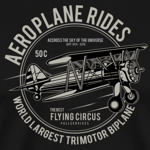 Aeroplane Rides the Sky - Men's Premium T-Shirt