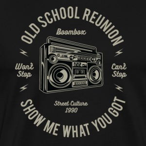Old school reunion: Boombox & ghetto blaster! - Men's Premium T-Shirt