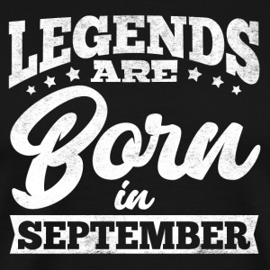 Legends föds i September - Premium-T-shirt herr